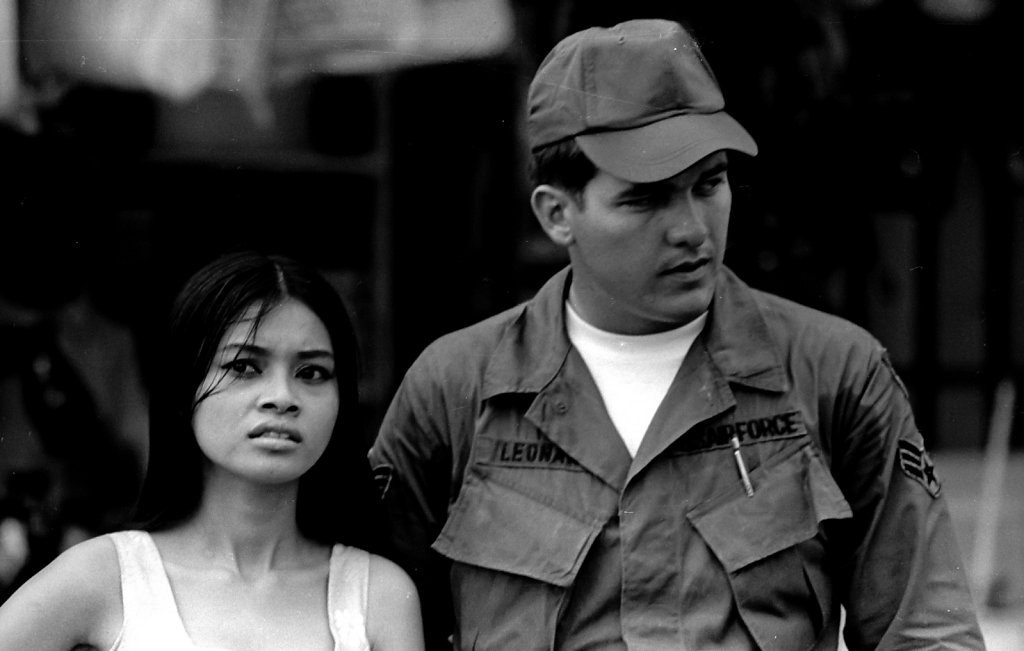 Air Force soldier with girlfriend  Saigon